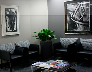 Front lobby waiting area